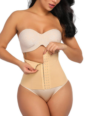 Body Shaper Stylish Nude Lace Steel Waist Double Layers Slimming Stomach