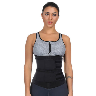 Body ShaperSuper Sexy Black Big Size Stylish Nude Lace Steel Waist Layers Slimming Stomach  Sticker Tummy Trimmer