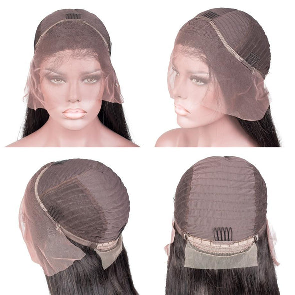 Lace Front Black Wig auburn Lace hair wigs 360 lace frontal cap