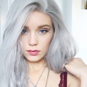 Silver long wig-G