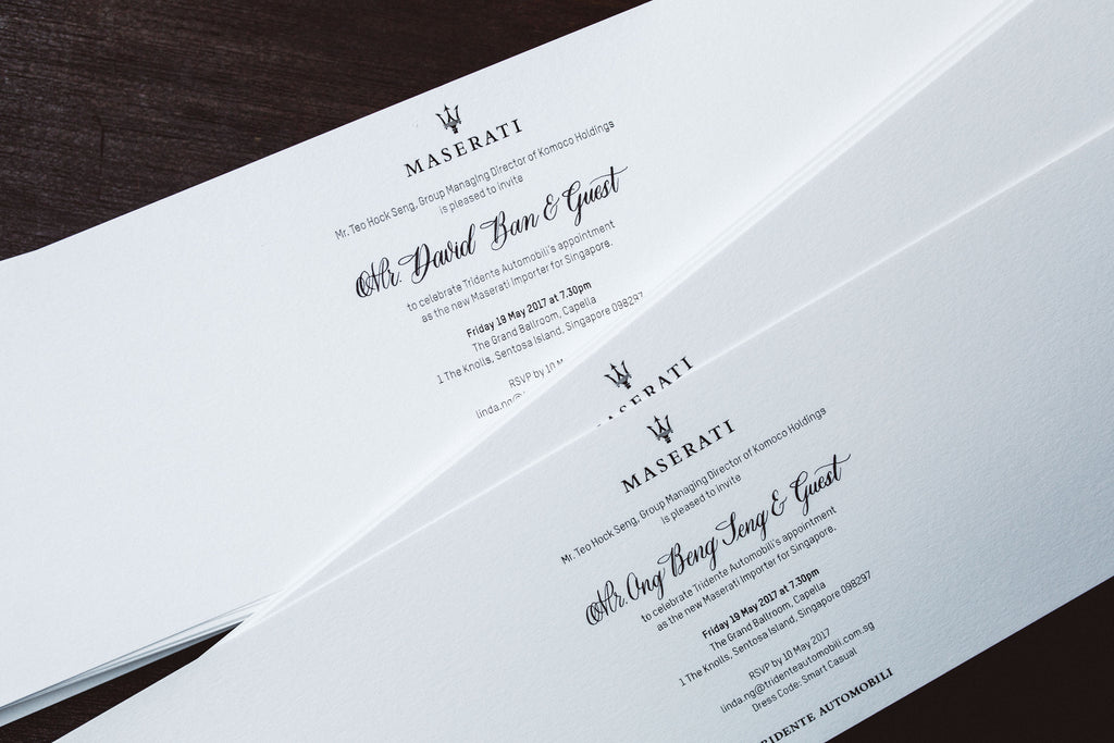 hand written invitation cards