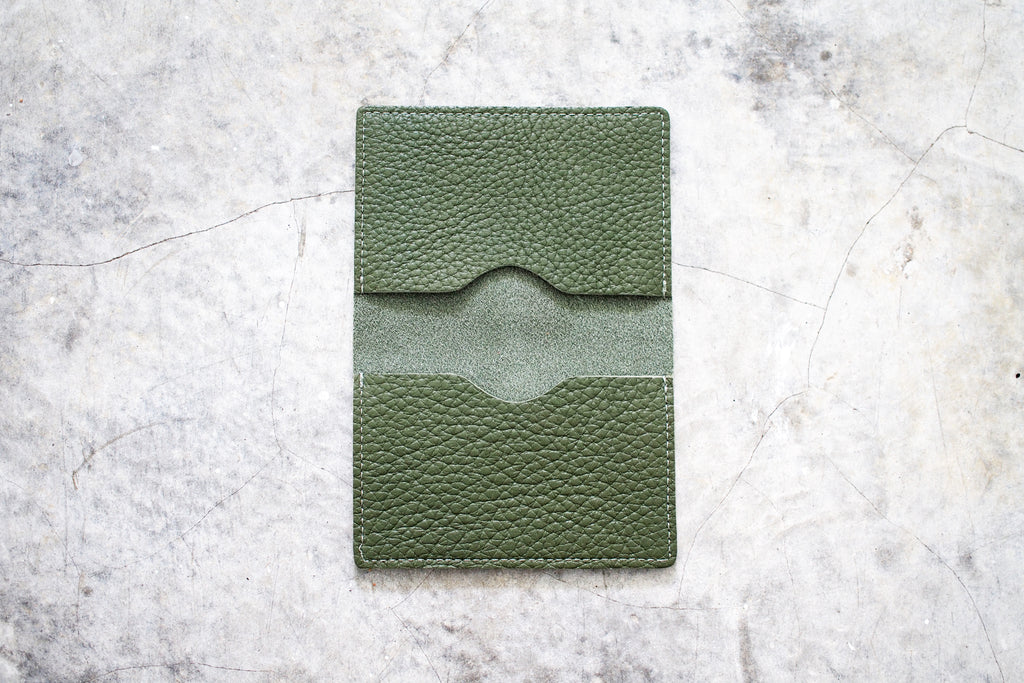 togo leather bifold card case