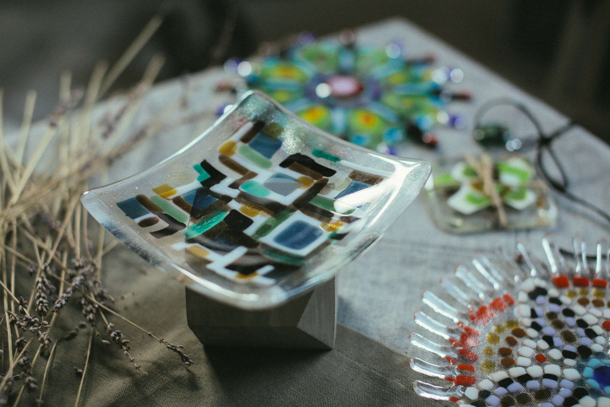 Intro to Glass Fusing - Fused Glass Plate / 12 Mar Sun 1300-1530 hrs