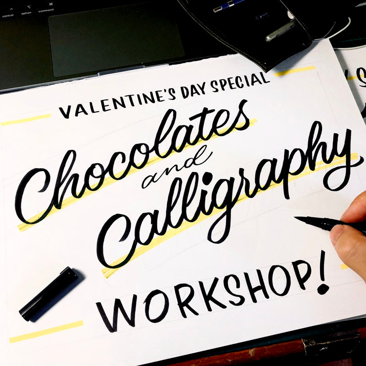 Valentine's Day Special: Chocolates & Calligraphy / 8 Feb Sat 1300-1600 hrs