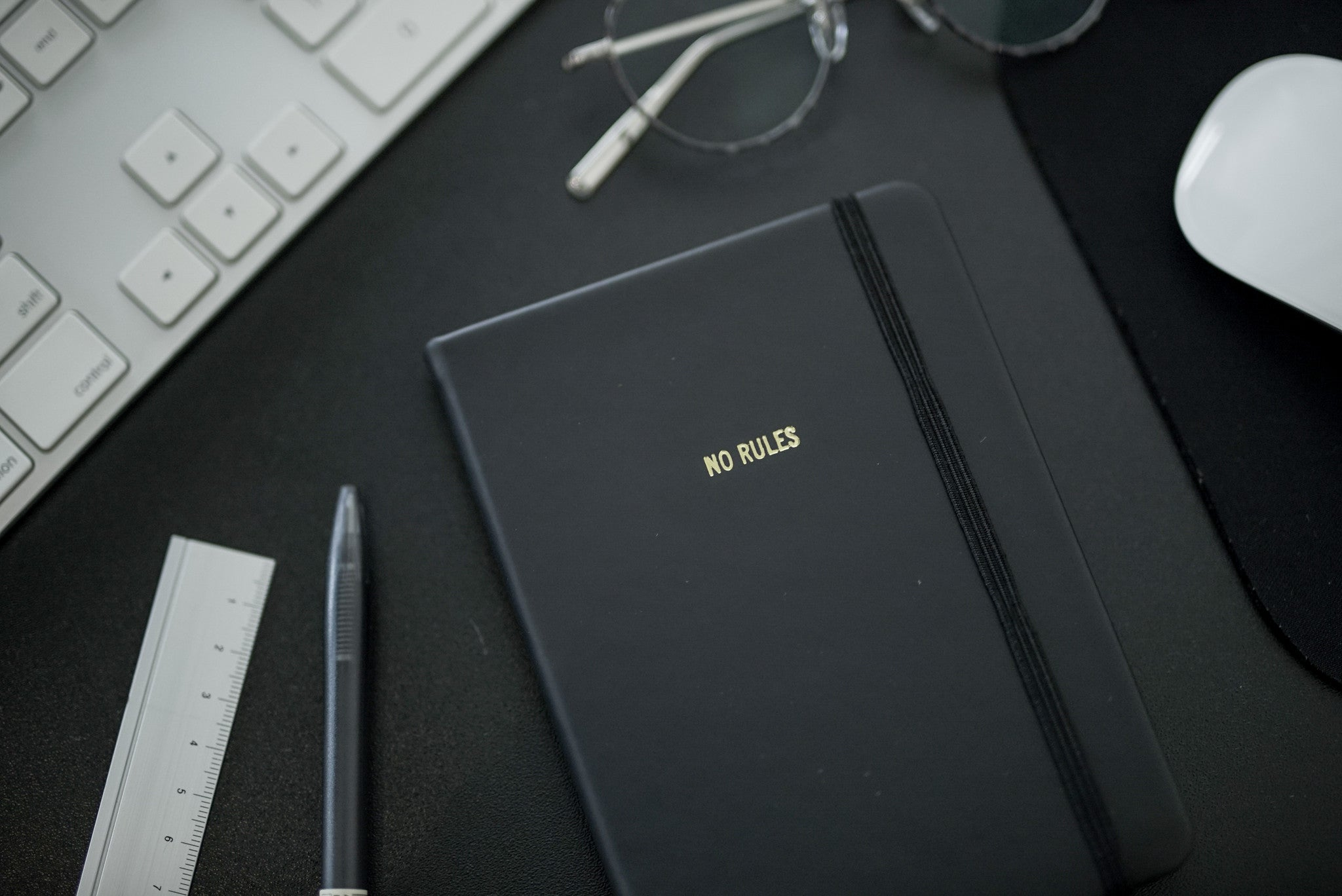Leather Notebook with Gold Foil