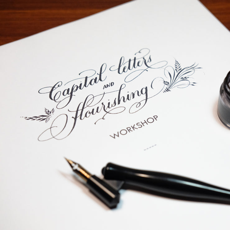 Capital Letters & Flourishing Workshop / 22 Jun Sat 1430-1730 hrs