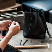 Leathercraft 201 - Intermediate Stitching of Bucket Bag / 11 Jun Sun 1200-1700 hrs