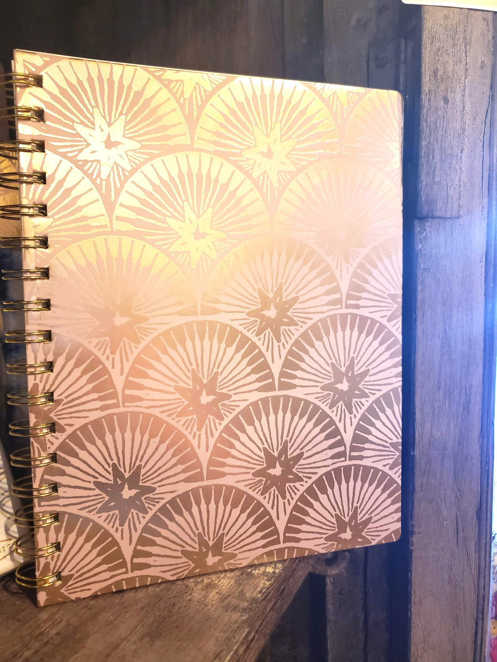 Lavender Starlight Small Wire Bound Notebook