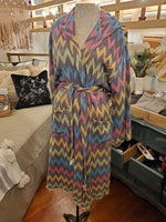 Turkish Cotton Robe Chevron Print