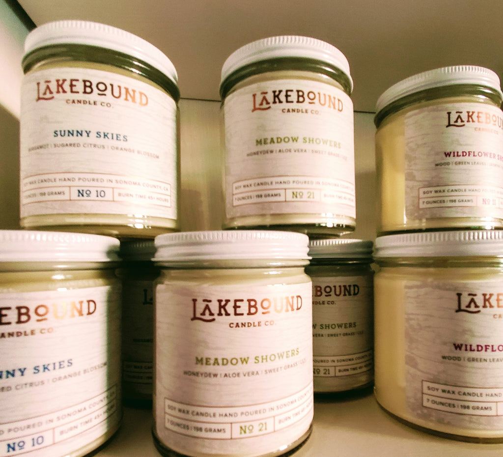 Local NorCal Non Toxic Soy Candles-Lake Inspired Aromas