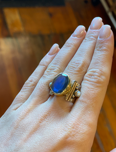 Mystic Turkish Ring in Labradorite