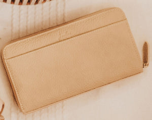 Vegan leather zip wallet