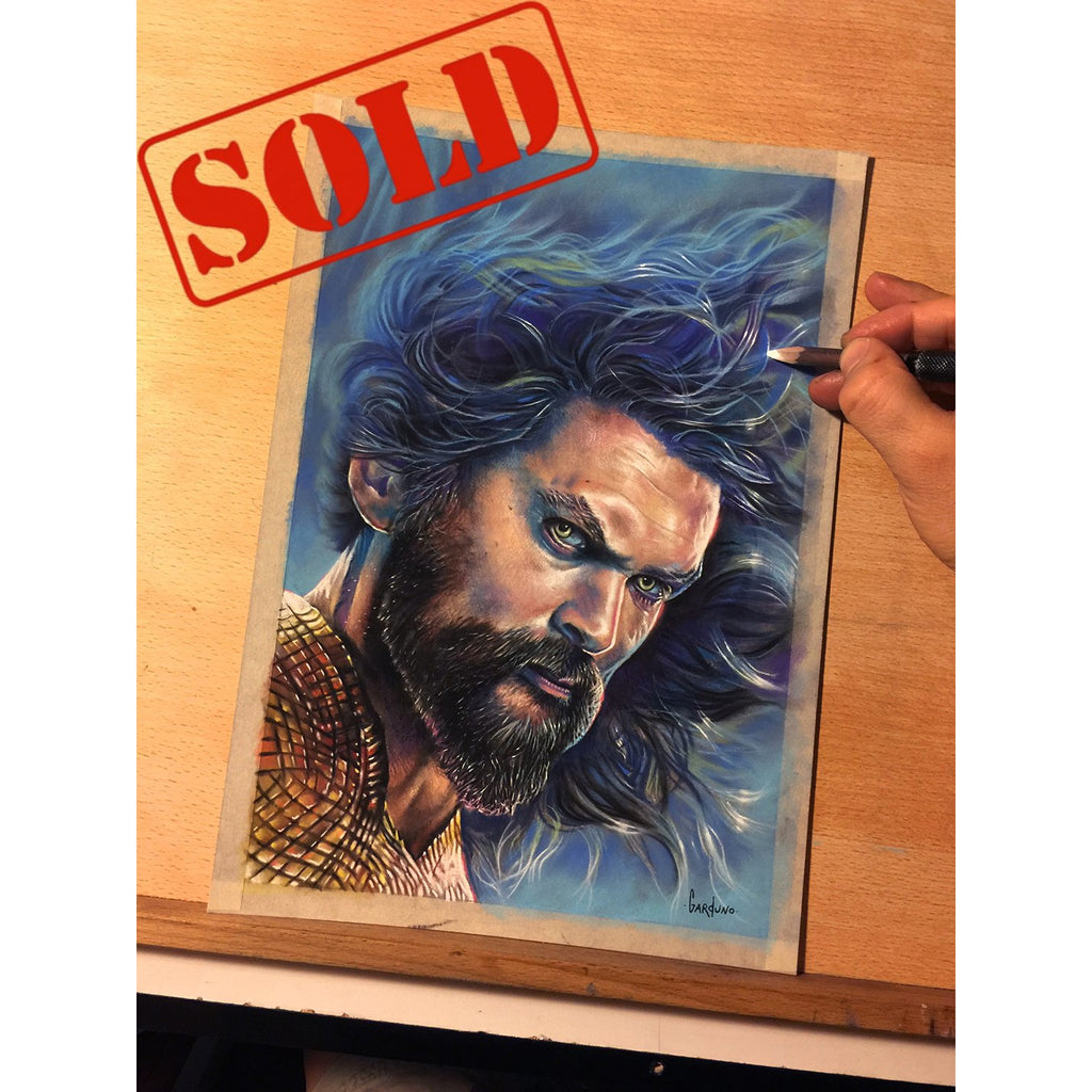 Aquaman Jason Mamoa Original Art Justice League