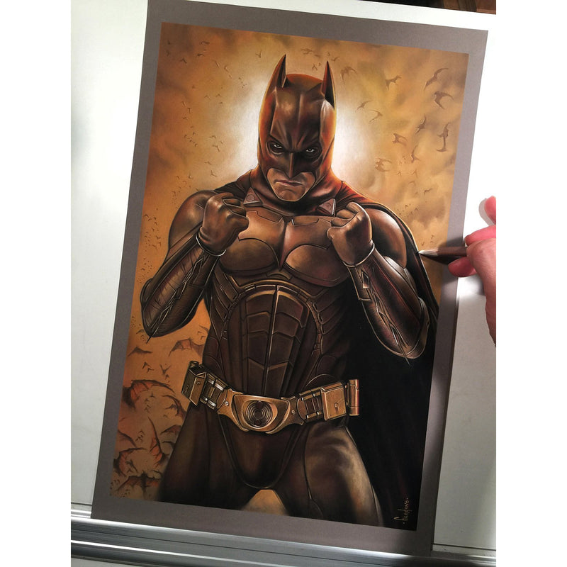 Batman Begins Top Best Museo Rag Art Print Poster