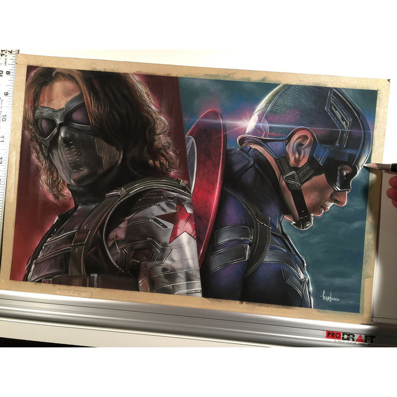 Captain America Shield Avengers Top Best Museo Rag Art Print Poster