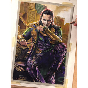 Loki Thor Dark World Avengers Top Best Museo Rag Art Print Poster