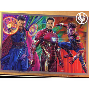 Infinity War Iron Man Dr. Strange Top Best Museo Rag Art Print Poster