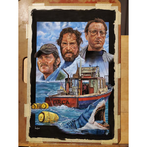 JAWS Top Best Museo Rag Art Print Poster