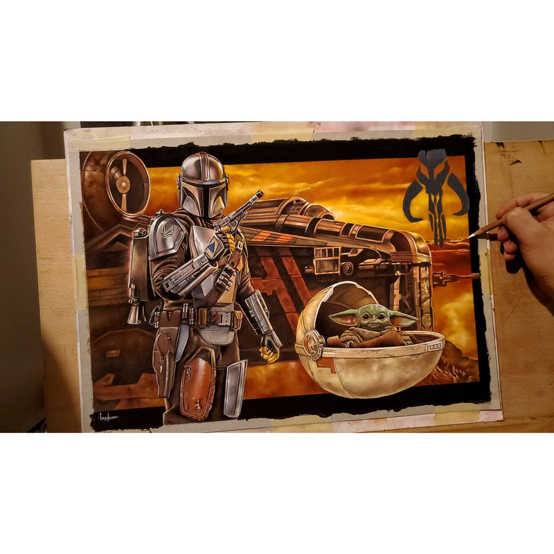 The Mandalorian Star Wars Top Best Museo Rag Art Print Poster Canvas