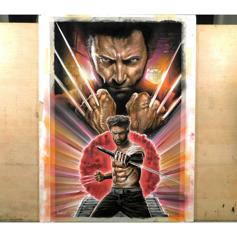 Ronin Wolverine X-Men Top Best Framed Canvas Art Print Poster