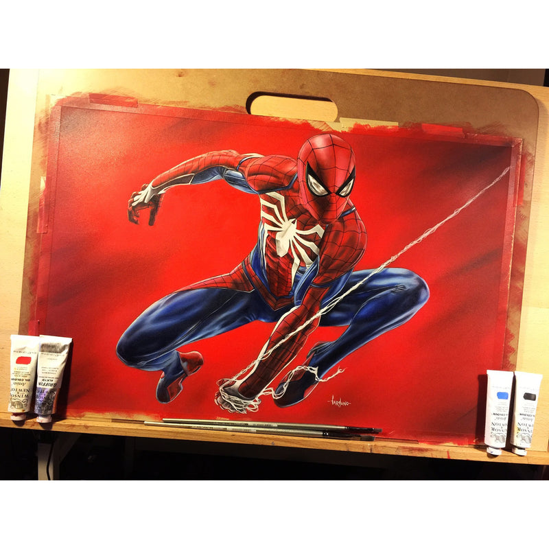 PS4 Spider-Man Top Best Museo Rag Art Print Poster