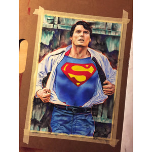Christopher Reeve Superman Top Best Museo Rag Art Print Poster