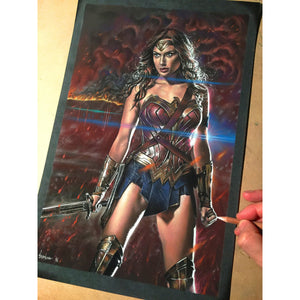 Wonder Woman Gal Gadot Top Best Museo Rag Art Print Poster