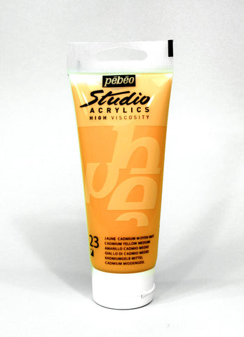 831023 Medium Cadmium Yellow Hue 100ml Acrylic Paint