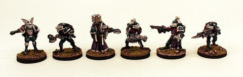 28mm Pro-Painted - Prydian Retained Knights - 6 Miniatures