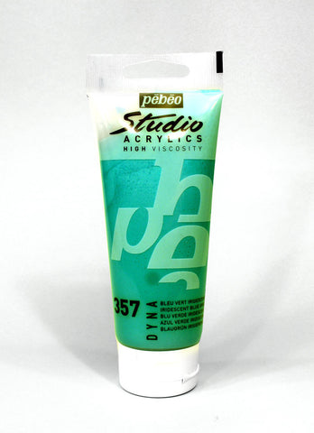 832357 Iridescent Blue Green 100ml Acrylic Paint