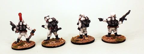 IB06 Muster Platoon Command-Painted Set of 4 Space Opera Miniatures