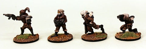 IB28 Planetary Militia Command-Pro-Painted Set of 4 Space Opera Miniatures