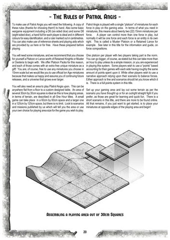 Patrol Angis - 15mm Skirmish Wargame Rules (Book)
