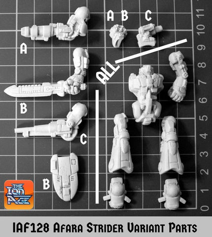 IAF128 Afara Strider Mecha - Three Different Variants