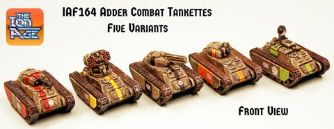 Adder Combat Tankettes Bundles of Five save 15% (Mixed or all of one type)