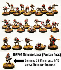 IAFP02 Retained Lance (Platoon Pack) with Unique Miniature