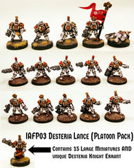 IAFP03 Desteria Lance (Platoon Pack) with Unique Miniature