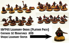 IAFP05 Legionary Ordos (Platoon Pack) with Unique Miniature