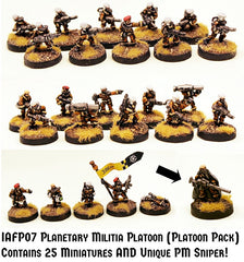 IAFP07 Planetary Militia Platoon (Platoon Pack) with Unique Miniature