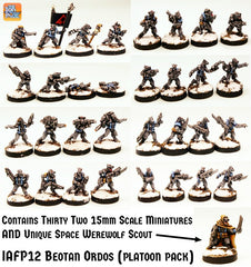 IAFP12 Beotan Ordos (Platoon Pack) with Unique Miniature