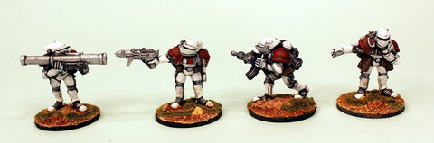 IB03 Retained Heavy Weapons-Pro-Painted Set of 4 Space Opera Miniatures