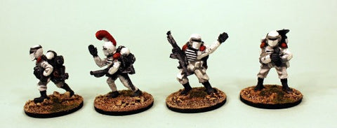 IB07 Muster Squad Command-Painted Set of 4 Space Opera Miniatures