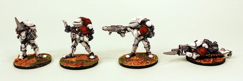 IB23 Retained Veterans-Painted Set of 4 Space Opera Miniatures