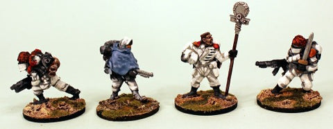 IB24 Muster Battle Flag-Painted Set of 4 Space Opera Miniatures