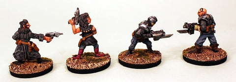 IB34 Betrayer Humans-Pro-Painted Set of 4 Space Opera Miniatures