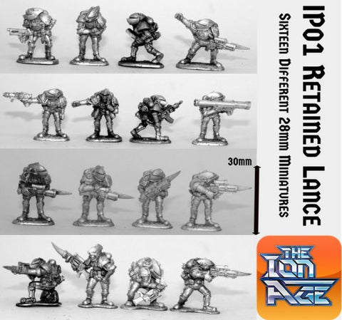 IP01 Retained Knight Lance with two miniatures included free