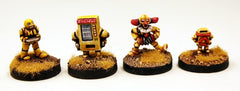 Happy Burger Bots!  All Four Robots in a Set