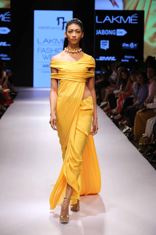 1. Nikhil Thampi saree at LFW