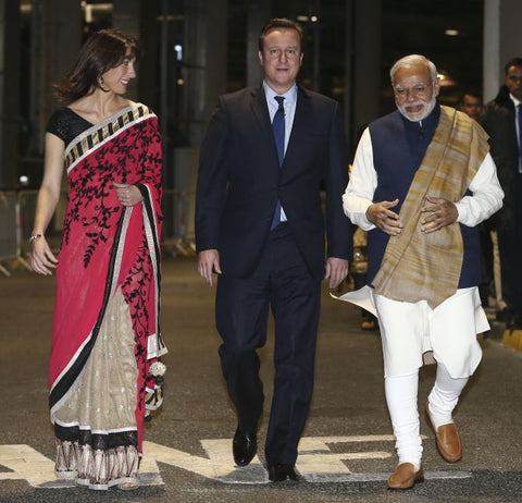 Samantha Cameron in Saree