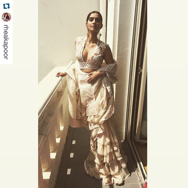 Sonam Kapoor at Cannes 2015 in Abu Jani & Sandeep Khosla